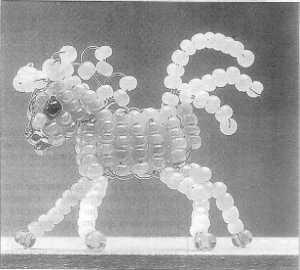 Как делать животных из бисера.