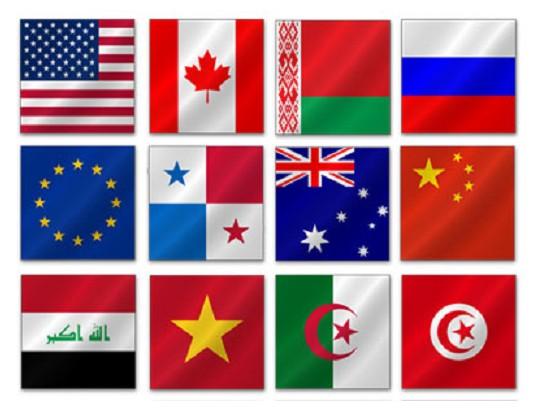 Скачать флаги стран мира и прочие