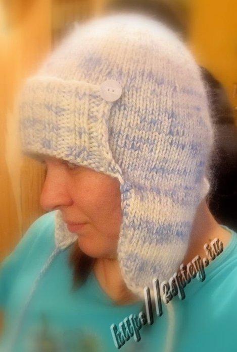 """Для вязания шапки мне понадобилось 200гр белой пряжи  """"Бриллиант """" и 100гр..."""