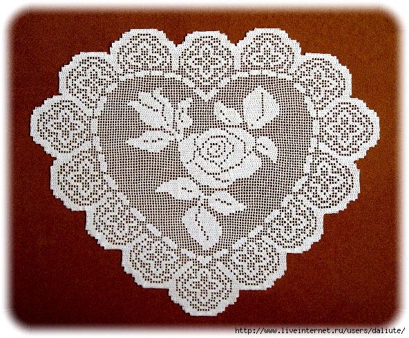 схемы крючком скатерти салфетки мастерицы японское и китайское вязание.