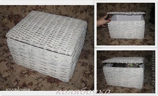 Поделка, изделие Плетение: Коробка прямоугольная.  Бумага газетная.