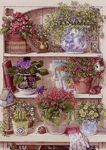 Цветочные пейзажи Beatrice E. Parsons.  Великолепные пейзажи В. З. Цыганова.  Милое,уютное,провинциальное...