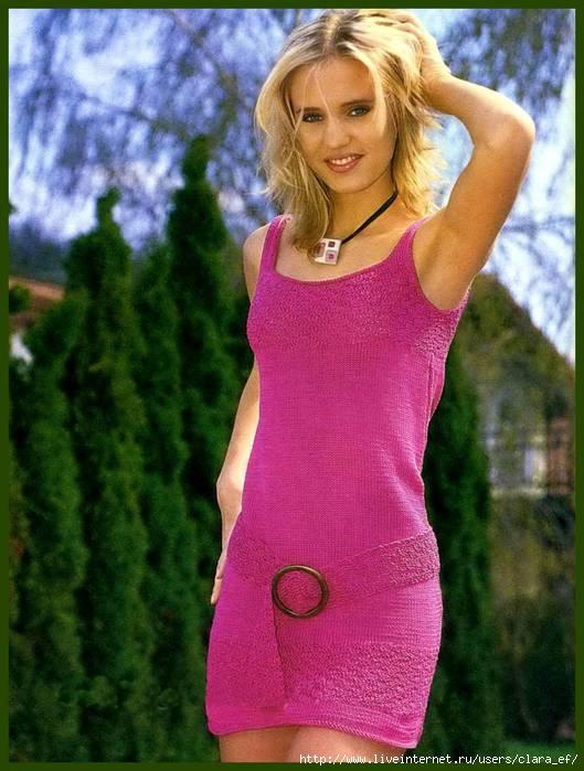 платье спицами схема бесплатно.