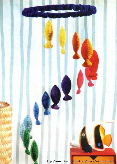 Симпатичных рыбок можно связать в подарок родившемуся под созвездием Рыб. рыба.  Tags.