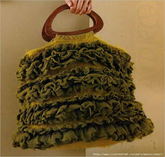 вязание крючком схемы летних сумок.