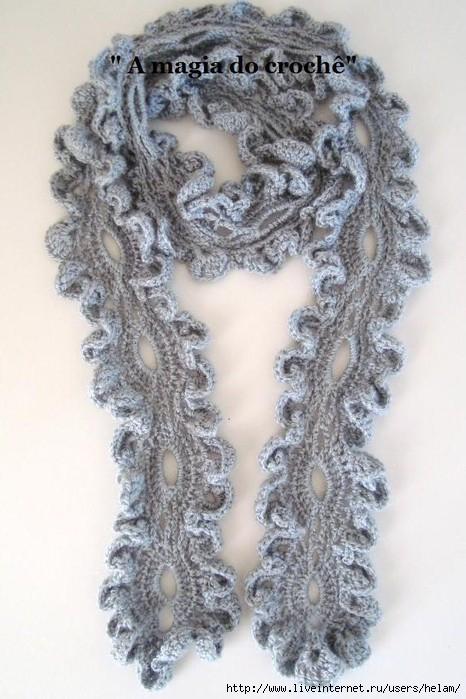Как связать обычный шарф крючком.