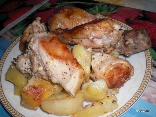 Лапша с курицей тушёная рецепт