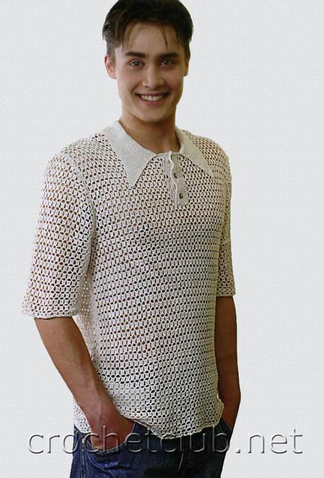 Рубашка крючком 3