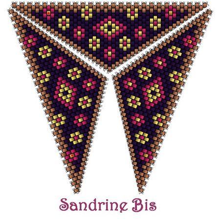 Треугольник из бисера: схемы плетения красивых кулонов.