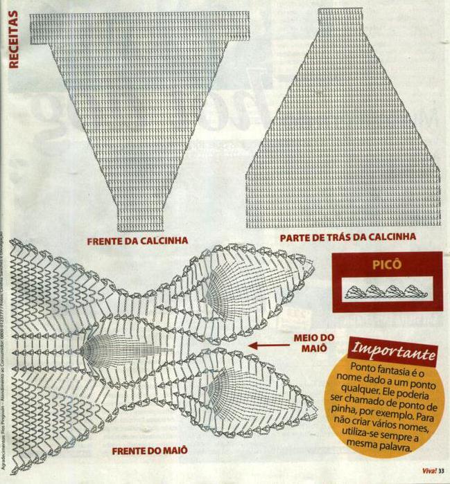 Вязание крючком слитного купальника
