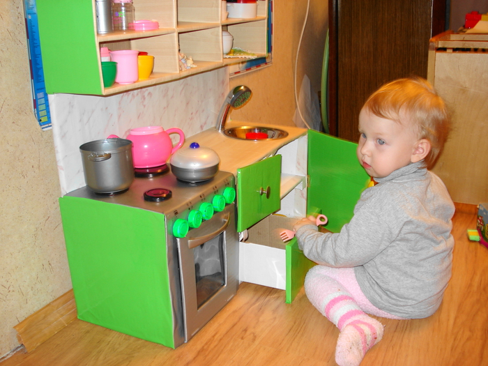 Детская кухня своими руками очень простая конструкция 4