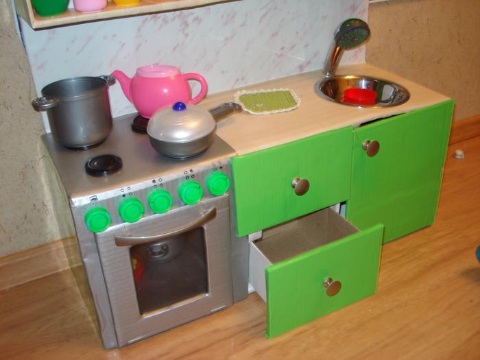 Кухня для ребенка из коробки