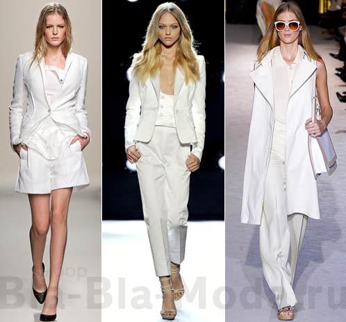 ...с белой одеждой носить белую сумку и даже белую оправу очков.