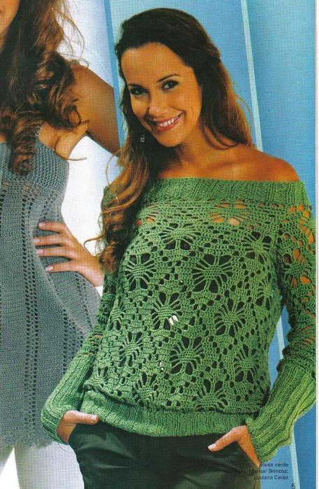 Пуловер с жаккардовым узором, судя по профессиональным снимкам и понятным любой начинающей мастерице схемам в...