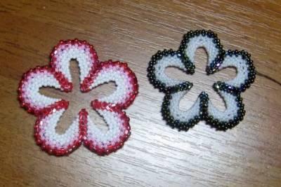 цветы из бисера схемы плетения.
