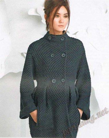 Вязаные пальто 8 вариантов