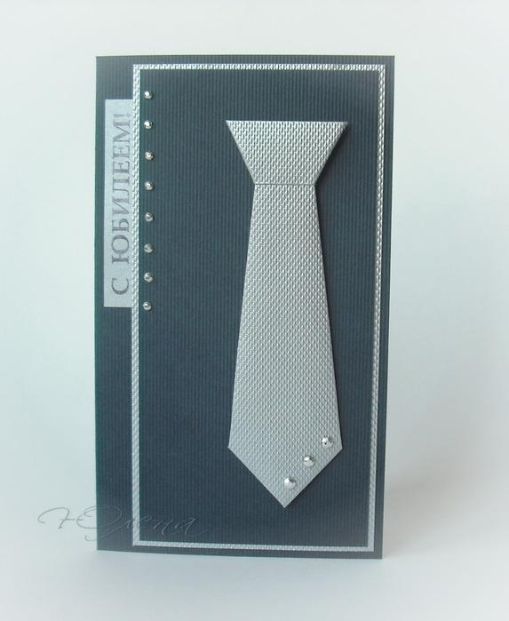 Открытка галстук скрапбукинг