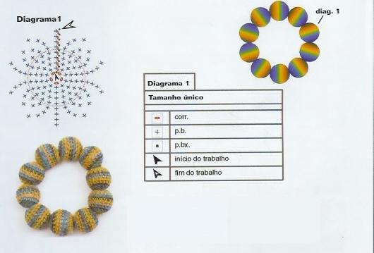 Вязаные бусы крючком схемы с описанием и
