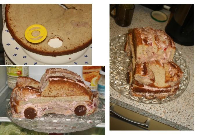 С помощью крема с обрезками бисквита