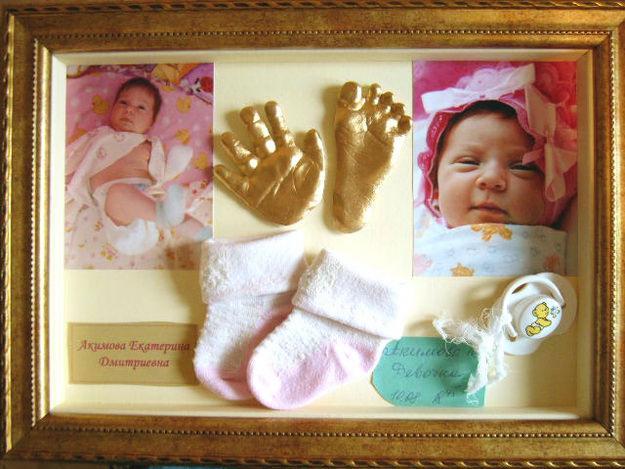 Сделать слепок ножки малыша своими руками