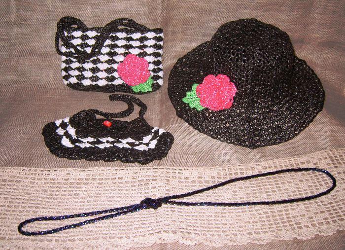 Вязание шляпы из пакетов 45