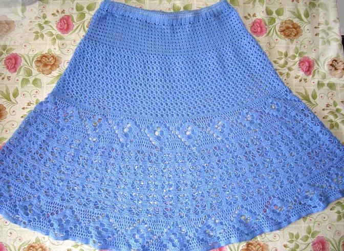 Голубая юбка вилена Ветрова.