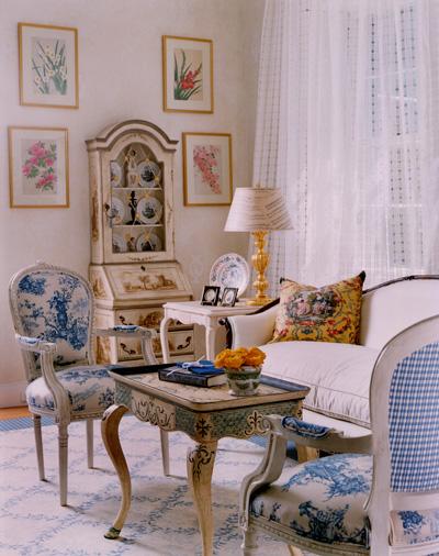 Французский интерьер в доме современного человека.