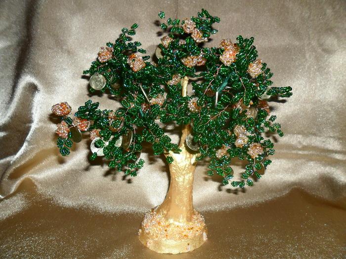 Денежное дерево из бисера.