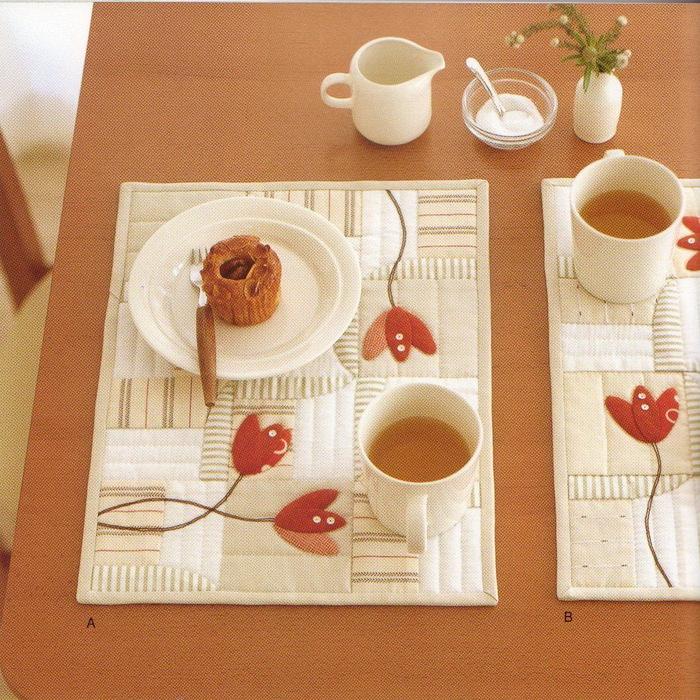 Салфетки под горячее из ткани на стол своими руками