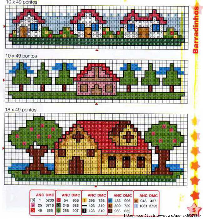 Английский домик схема вышивки 16