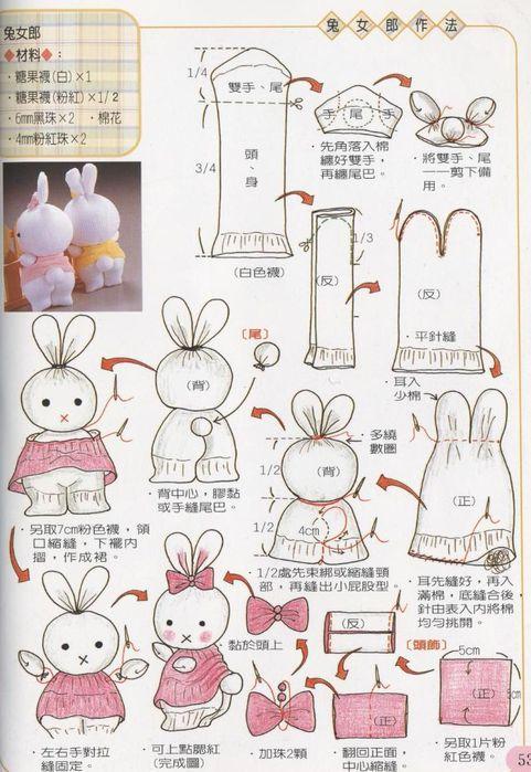 Как сшить зайца своими руками фото