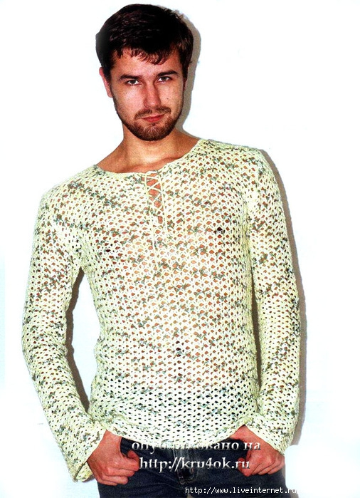 вязание крючком свитера