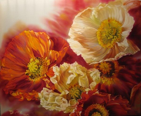 И мир любви без мук и слез!  И остается прочно с нами.  Все то, что связано с цветами.  В них растворились краски...