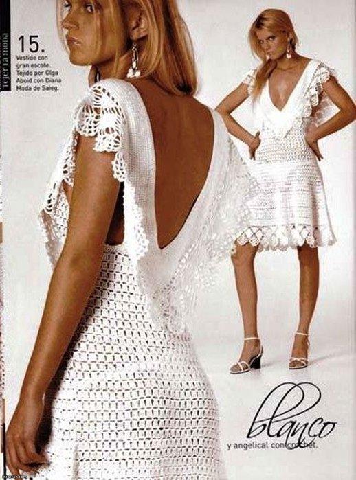 Чернобелое летнее платье крючком.  Размер: 36-38.Расход ниток-300 г...