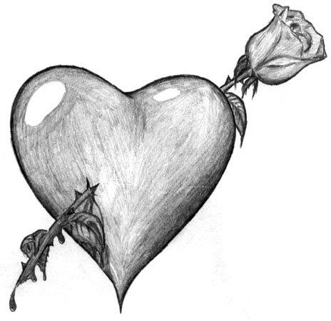 Картинки для срисовки карандашом для начинающих про любовь 14