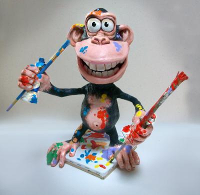 Как сделать обезьяну из папье маше своими