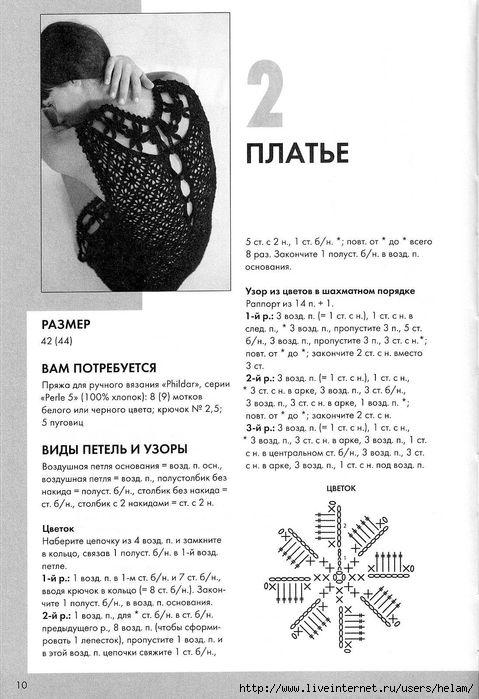 Категория записи:Свободные темы.  Теги. вязание. платья.  Летнее платье крючком из Phildar с переводом.