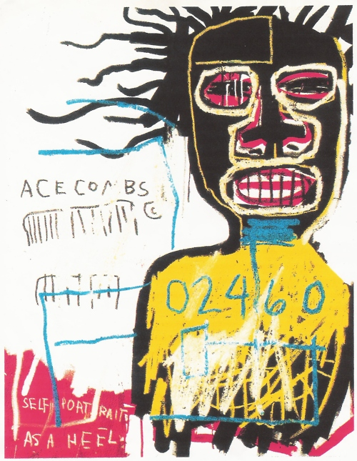 a critique of the paintings done by jean michel basquiat