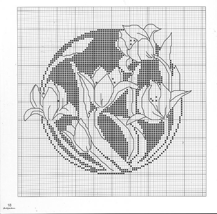 Схемы для вышивки крестом.  Монохром-1 (198 фото).  Прочитать целикомВ.