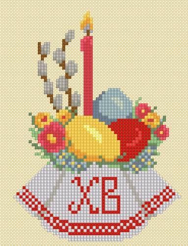 схема вышивки крестом рыбка