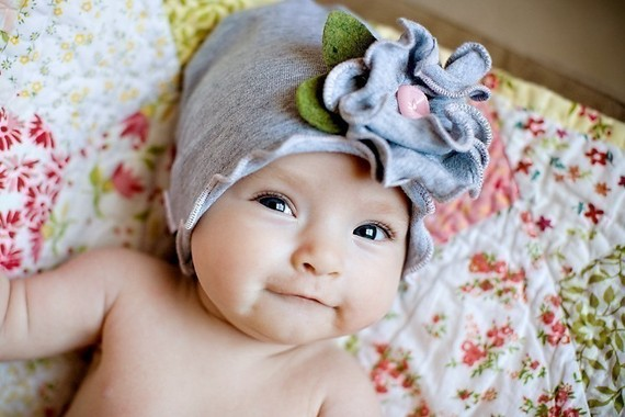 Цветы на детские шапочки своими руками