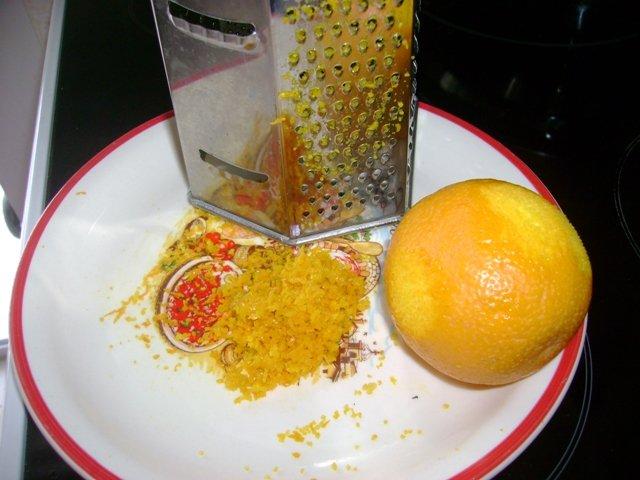 Бисквит с апельсиновыми цедрой
