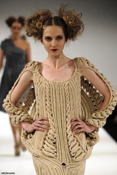 вязание спицами модели с подиума