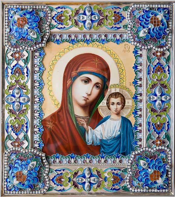 Интернет-Магазин.  Купить икону Казанской Божьей Матери или на заказ.