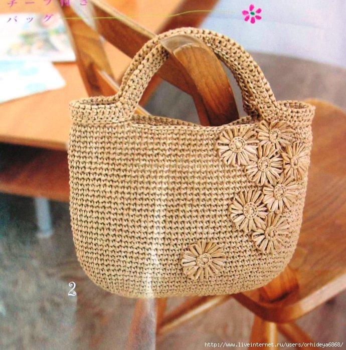 Вязание крючком в фото сумки 349
