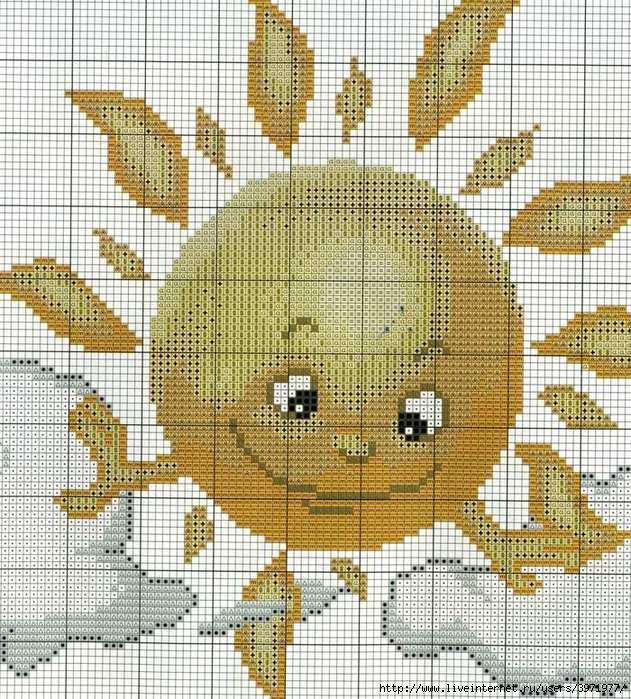 Схема вышивки крестом восход солнца 69