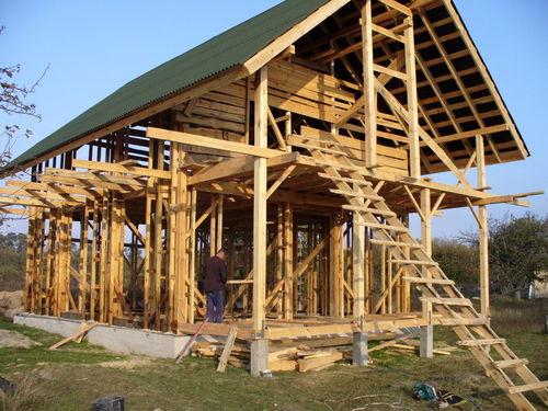 Дом из легкого самана - фото-галерея всего процесса строительства.