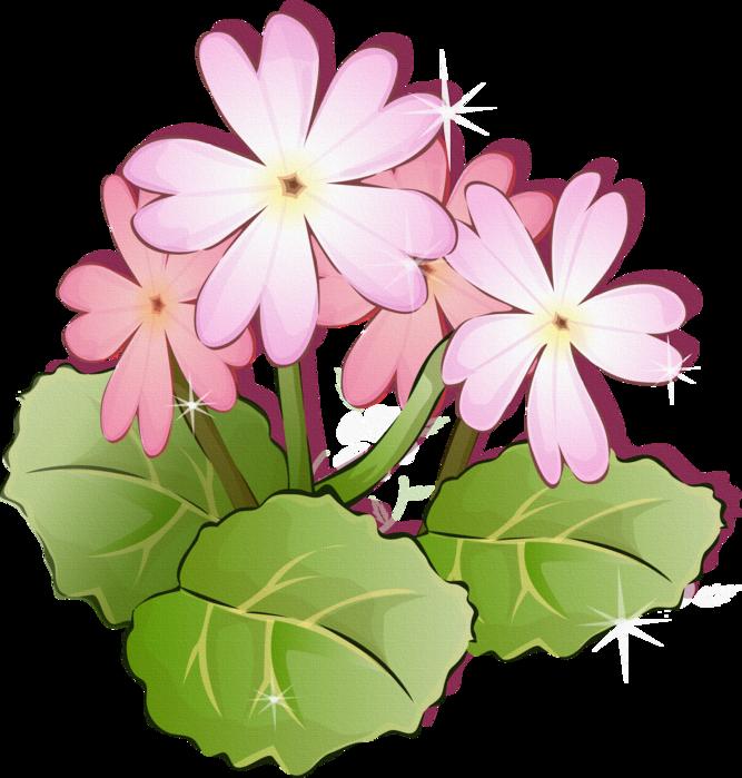 Нарисованные цветы клипарт