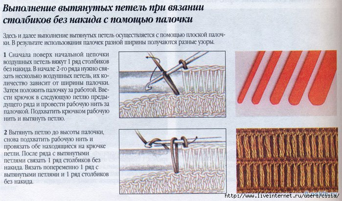Вязание крючком петли видео урок