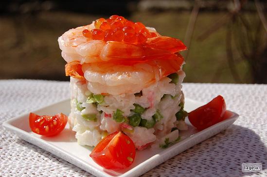 Салат из настоящего крабового мяса рецепт с очень вкусный